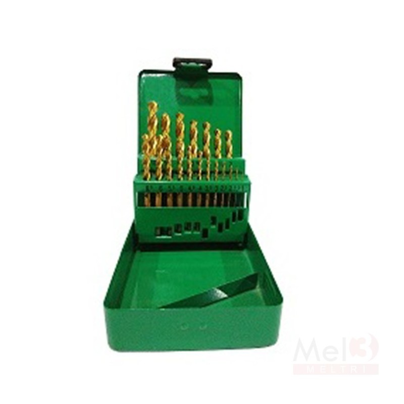 Tin Coated HSS Jobber Drill Bit Set ( 1.0 - 10.0mm)