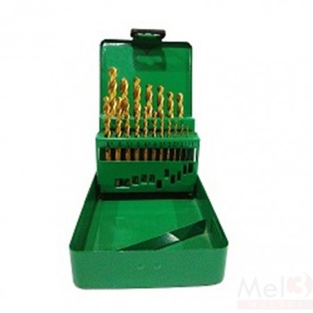 Tin Coated HSS Jobber Drill Bit Set (mm)