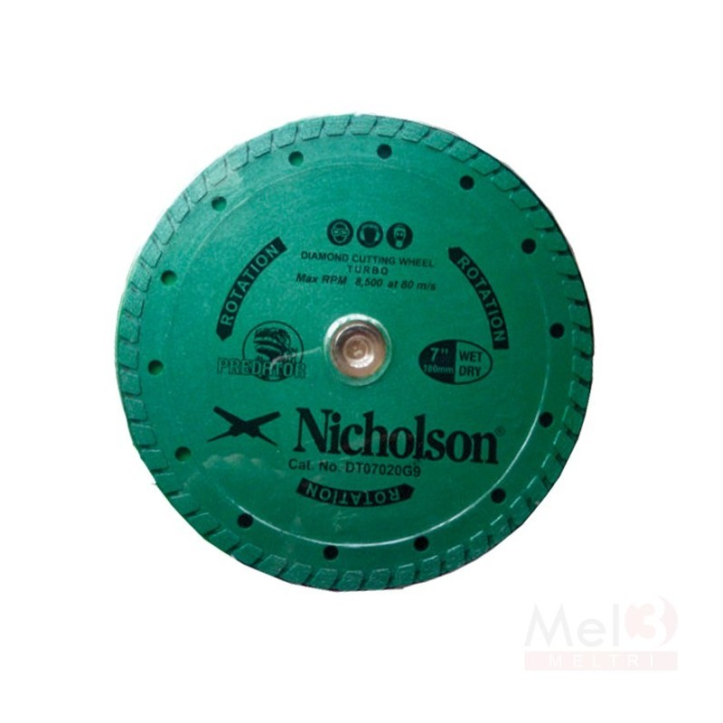 NICHOLSON DIAMOND WHEEL 100mm SEGMENTED