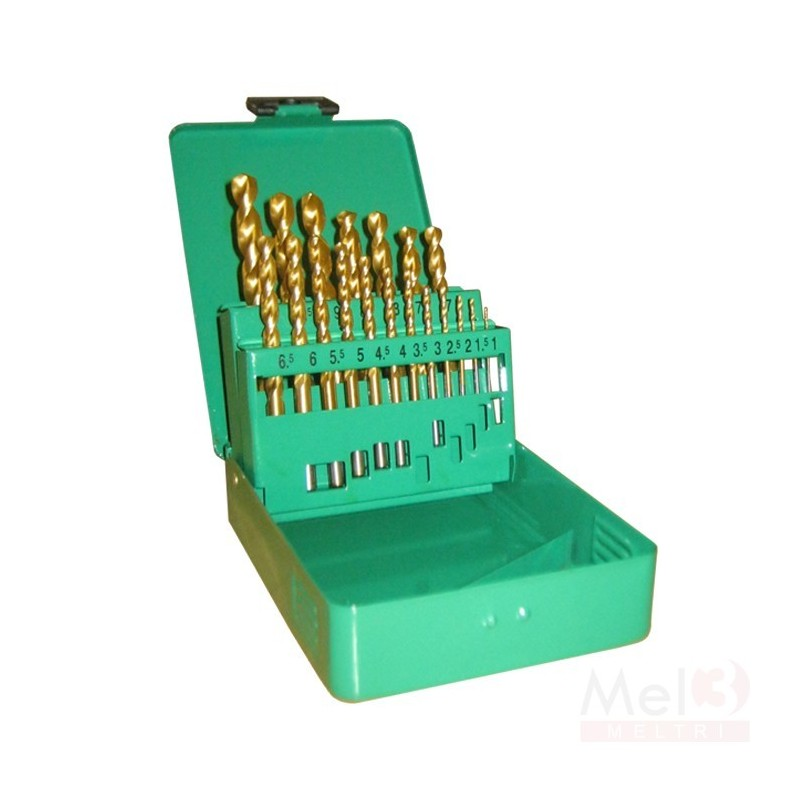 Tin Coated HSS Jobber Drill Bit Set ( 1.0 - 13.0mm)