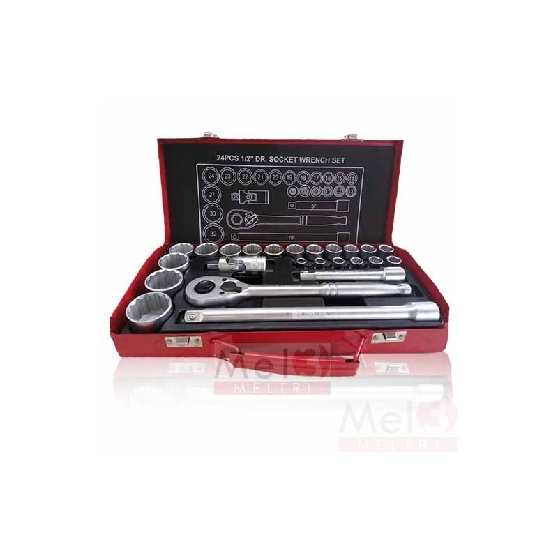 HD SOCKET SET 12 PT - 1/2""